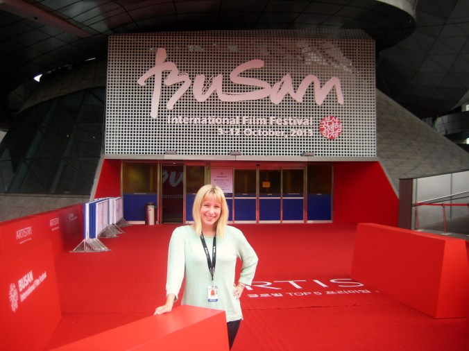 Me being a happy camper in Korea for the Busan Film Festival.