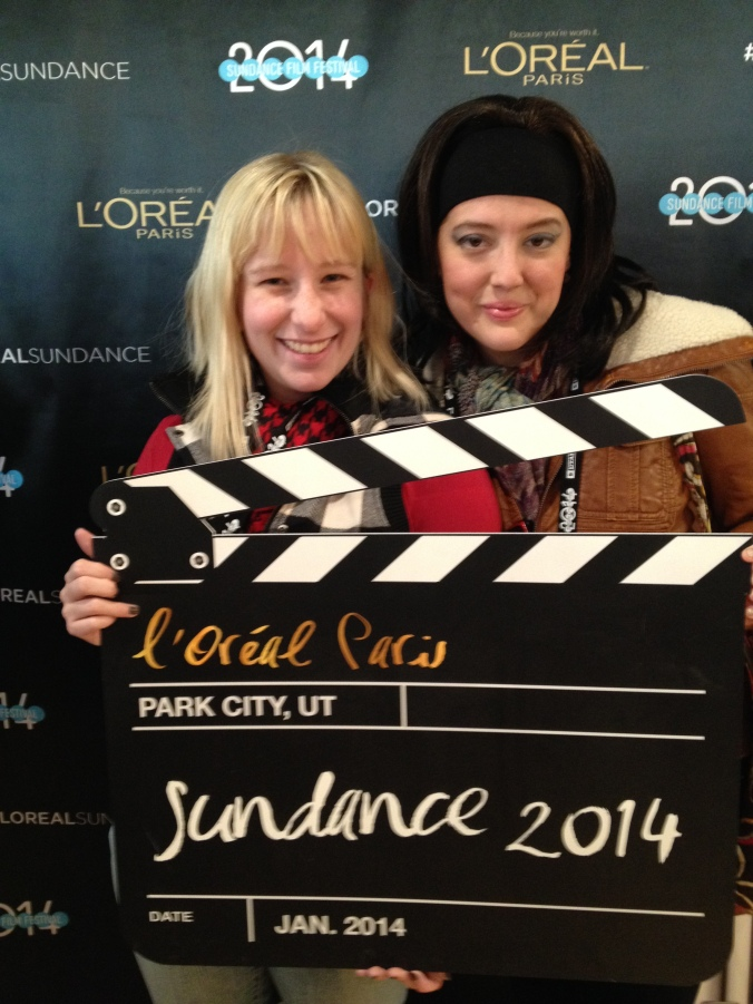 Dara and I at the 2014 Sundance Film Festival: she wore a wig and called herself Liz French just for giggles.