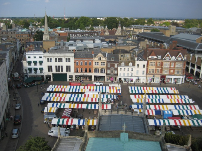 The view of the market in Cambridge.