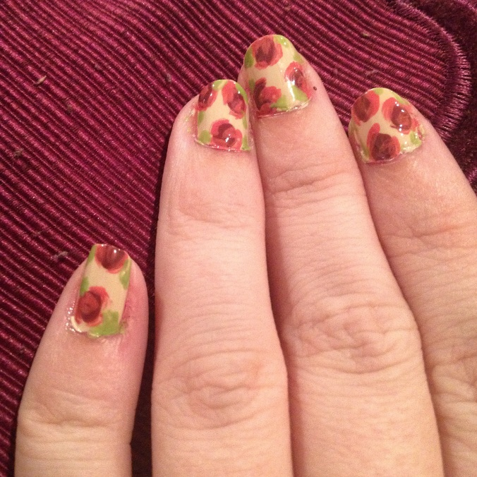 My fall rose nail!