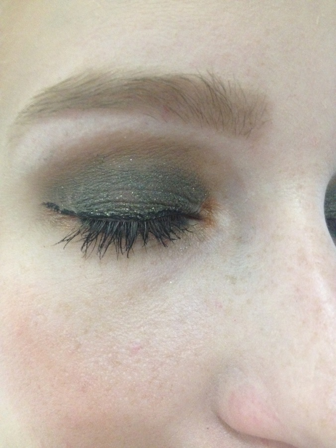A much darker look for an all over smoky eye.